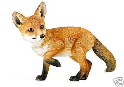 Country Artists Natural World FOX CUB Large Figurine BNIB