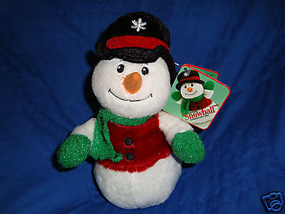 Christmas Plush Sears Exclusive Snowman Snowball W/Tags