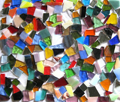 400g of colorful STAINED GLASS precut MOSAIC PIECES WOW