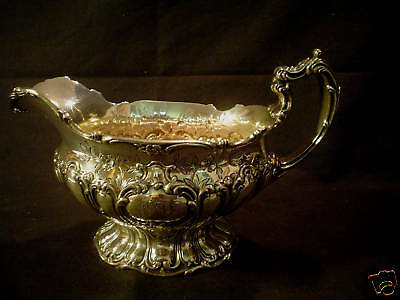 """Gorham Sterling """"chantilly-Grand"""" Sterling Silver Sauce Boat"""