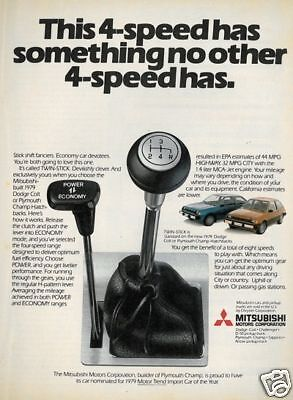 1979 Plymouth Champ Classic Vintage Advertisement