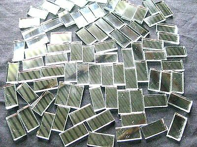100,Mosaic MIRROR Tiles 2cm x 1cm Perfect For Easy Borders