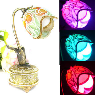 Handcraft Decorated Fancy Egg Music Box LED ColorChange