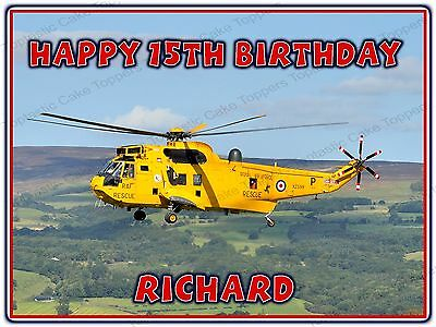 Personalised Air Rescue Helicopter Edible Icing Cake Topper