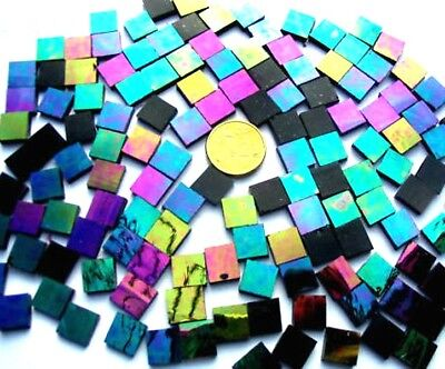 100 Iridised DARK Purple MOSAIC Tiles 1cm x 1cm Art Craft