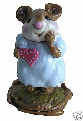 GIRL SWEETHEART by Wee Forest Folk, WFF# M-080, BLUE, Retired 2000