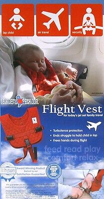 *NEW!! Baby B'Air AIRLINE FLIGHT VEST Airplane SAFETY BAir Seat Belt FAA Harness