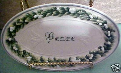 Fitz and Floyd Winter Garden Sentiment Tray New Peace