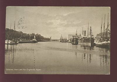 FINLAND 1928 PPC 1M 20p...ODENSE HARBOUR + SHIPS