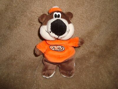A&W Bear Resturant Collectible Mini Plush Beanbag 5.5""