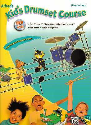 Kid's Drum Tutor Percussion Book & Dvd For Beginner Learn To Play New