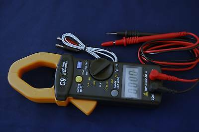 True RMS AC DC Clamp Ammeter DMM Capacitor Tester HVAC