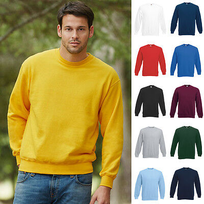 Fruit of the loom Sweatshirt Set-In Herren Pullover Pulli Classic Sweat 80/20