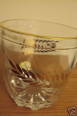Vintage Decor Hand Cut Ice Bucket Drinking Glass Italy