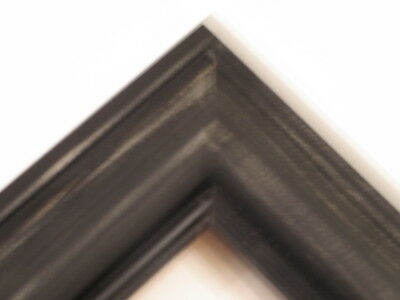 """1.8"""" Black Weathered Distressed Solid Wood Picture Frames-Square"""