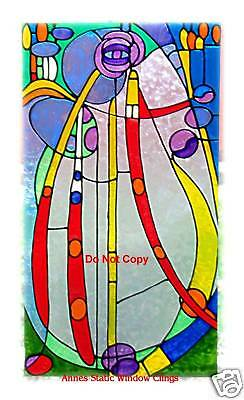 ROSE Mackintosh PANEL STAINED GLASS LOOK WINDOW CLING FILM SUN CATCHER