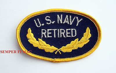 e2fcea214e8 Us Navy Retired Hat Patch Badge Veteran Retired Usn Nas Ns Uss Pin Up Gift  Wow