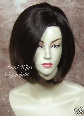 Silky Face Frame Wig in Dark Brown / 100% Japanese Fibre Brilliant Quality