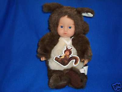 "Anne Geddes Squirrel 15"" 1998 Doll  Blue eyes"