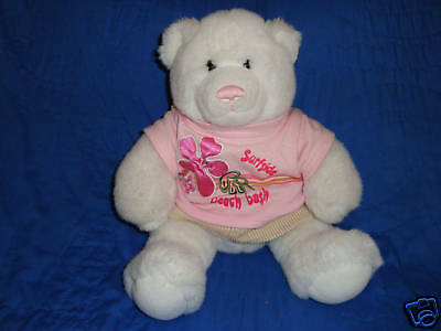 Build a Bear White Teddy & Outfit Plush 14""