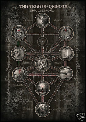 THE TREE OF QLIPHOTH-POSTER - Magie, Kabbala, Okkult
