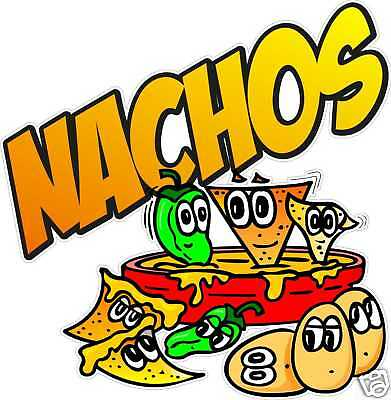 "Nachos Decal 14"" Mexican Restaurant Concession Food Truck Vinyl Sign Sticker"