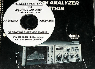 HP 853A Operating & Service manuals (2 volumes)
