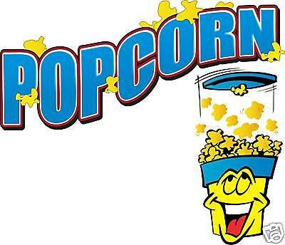 Popcorn Concession Vendor Fast Food Sign Decal 14""