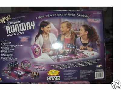 new in box BRATZ FASHION RUNWAY BOARD GAME