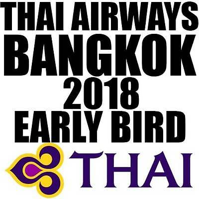 Flug Bangkok Thailand Thai Airways Early Bird Deal Billigflug Bangkok Flüge 2018