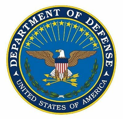 """4"""" Department Of Defense Dod Sticker Window  Decal Made In Usa"""