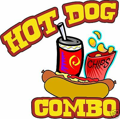 """Concession Hot Dogs Hot Dog Food Sign Decal 14"""""""
