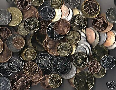 **lot Of 100 Uncirculated World Foreign  Coins**