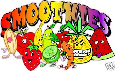 """Smoothies Concession Restaurant Vinyl Sign Decal 28"""""""