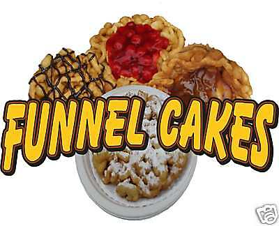 Funnel Cake Cakes Concession Trailer Decal 14""
