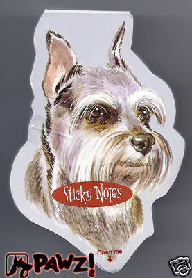 SCHNAUZER Grey Dog Breed Sticky Notes Memo Pad