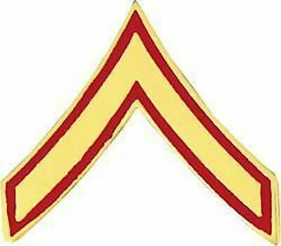 Marine Corps E-2 Pfc Private First Class  Rank Pin
