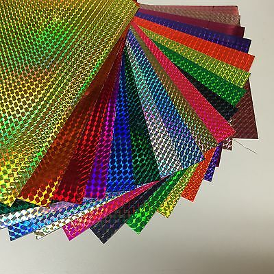"ANY COLOR 1/4"" Mosaic Sign Vinyl 24 inch x 30 feet Holographic Prism"