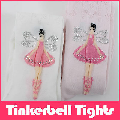 Tinkerbell Cotton Tights Pettiskirt TuTu Pink,White