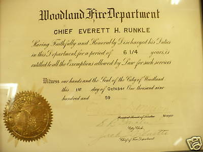 H2- Vintage Woodland Fire Chief Discharge 1959