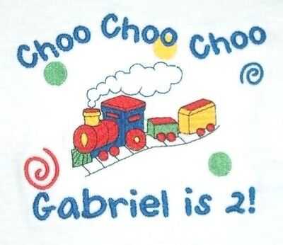 Personalized Boy or Girl TRAIN Choo Choo Just Name or Birthday T Shirt GIFT