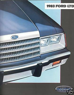 1983 Ford LTD Sedan/Brougham/Wagon Brochure - Mint!