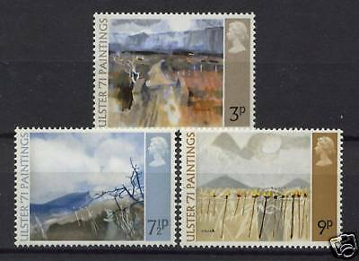 GB 1971 Ulster Paintings Mint MNH Set