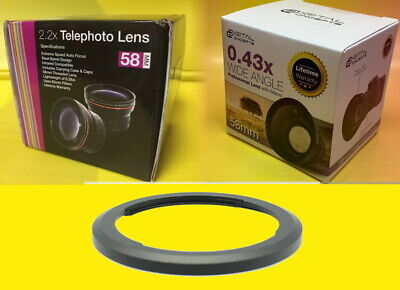 0.43x WIDE+2.2x TELEPHOTO LENS+ADAPTER to CANON SX50 SX60 SX70 SX520 SX530 SX540
