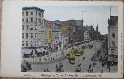 1905 Postcard: Downtown - Indianapolis, Indiana Ind IN