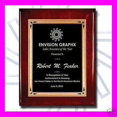 8X10 Custom Engraved Rosewood Red Recognition Award Plaque Appreciation Gift Td