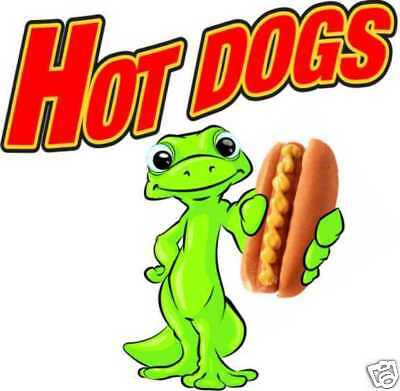 """Concession Hot Dogs Decal 14"""" Food Business Sign"""
