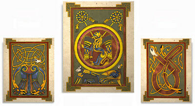 The Book of Kells Celtic Art Prints Set
