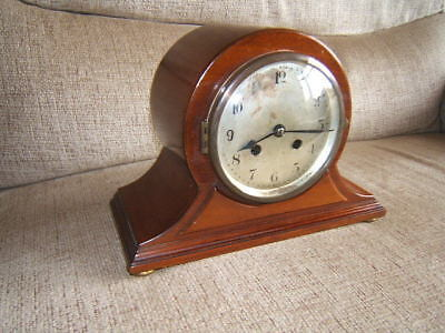 Clock vintage mantle Mahogany UNGHAN WURTTEMBERG   HAT9