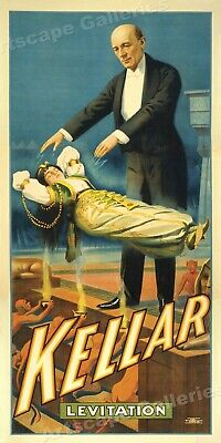 Kellar Levitation 1900 - Illusionist Magic Show Poster - 24x48
